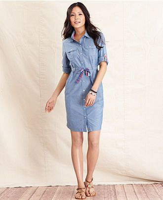 Polo Denim Dress - HEART 'n' SLEEVE