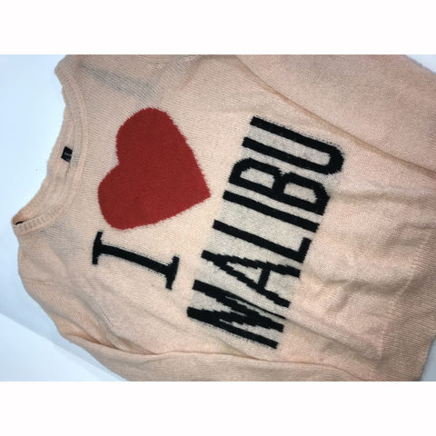 I Heart Malibu Wool Blend Long Sleeve Sweater - Womens Sweater