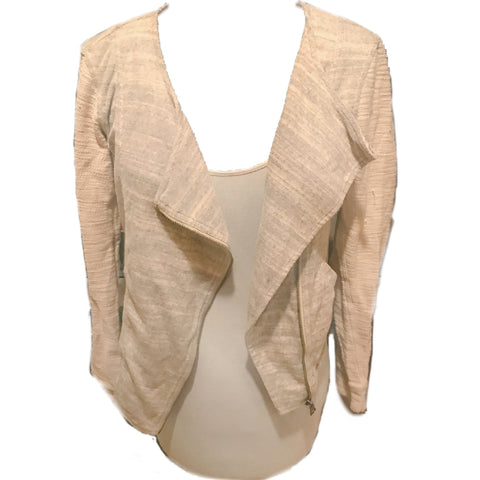 Ann Taylor - Zip Up Cardigan w/Textured Detailing - Sz Small - HEART 'n' SLEEVE