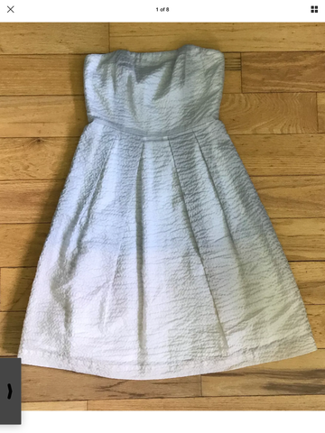 J. Crew – Cloud Ombre Watercolor Crinkled Fit & Flare Dress – Sz 8