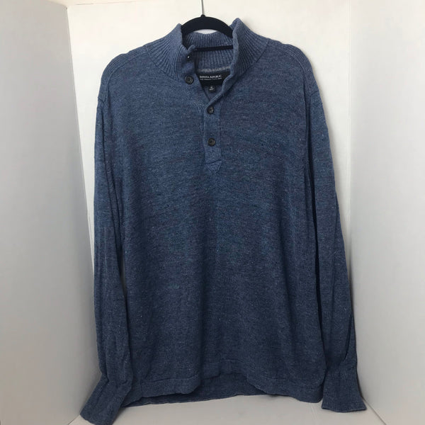 Men's Long Sleeve Blue Sweater - HEART 'n' SLEEVE