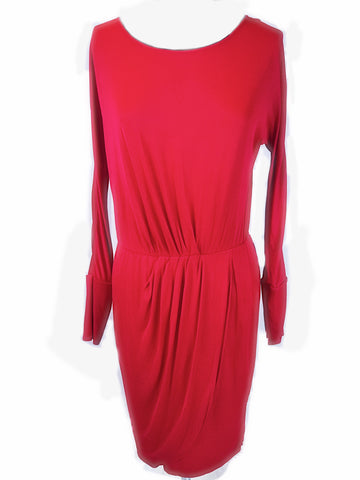 BCBG Maxazria - Red Boycon Dress - Sz Medium - HEART 'n' SLEEVE