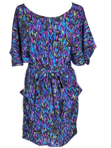 Multi Colored Belted Dress - HEART 'n' SLEEVE