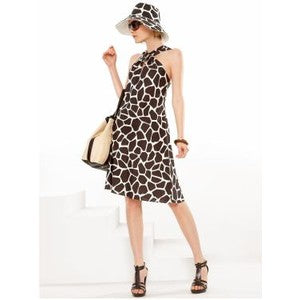 Banana Republic - Leopard Silk Dress - Sz 0 - HEART 'n' SLEEVE