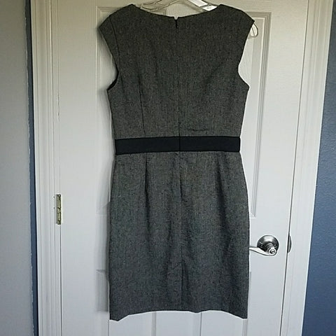 Banana Republic Grey Wool Dress Lace Waist - HEART 'n' SLEEVE
