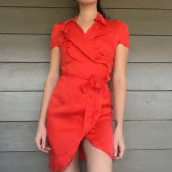 Banana Republic - Orange Red Silk Dress - Sz 2