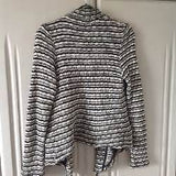 Zara - Knit Textured Blazer Sweater Cardigan - Sz Small
