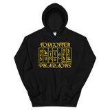 Hieroglyphs Gold Print hooded sweatshirt