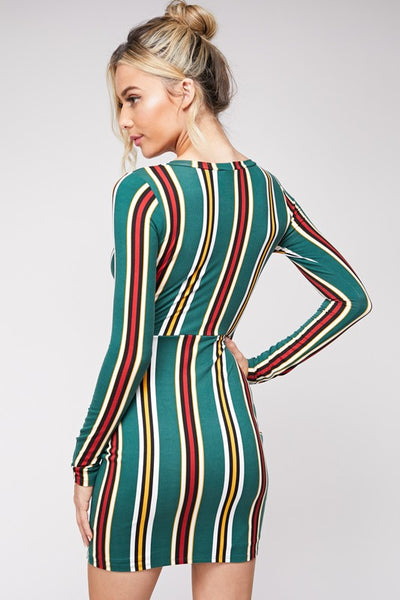 Party Girl Pinstriped Dress
