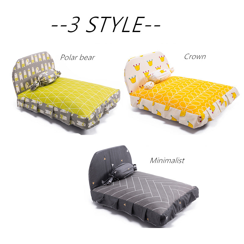 instagram style washable ped bed with candy pillow