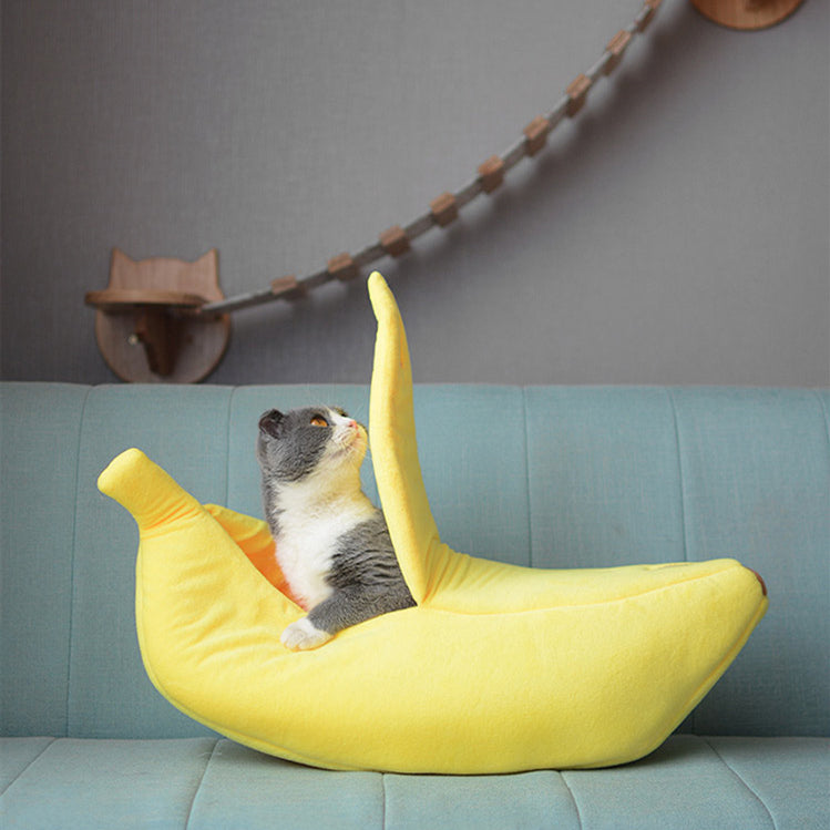 Banana Shape Pet Dog Cat Bed
