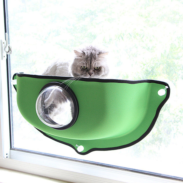 Window-Mounted Cat Bed Bubble Pod