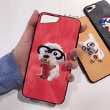 cute embroidery dog case for apple iPhone
