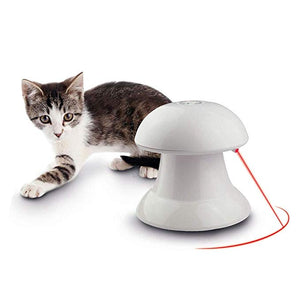Interactive Cat Toy, Non-Handheld, Automatic Rotating Laser Light Cat Chaser Toy for Cat &Dog