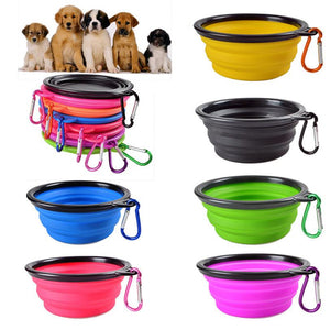Foldable Silicone Dog Bowl for travel