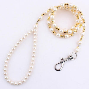 Luxury Beaded Pearl cat Leash