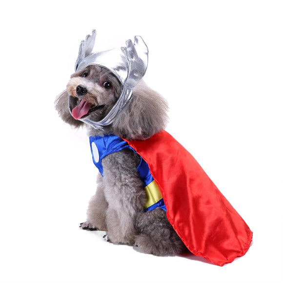 Dogs Halloween  Superhero Thor Costumes