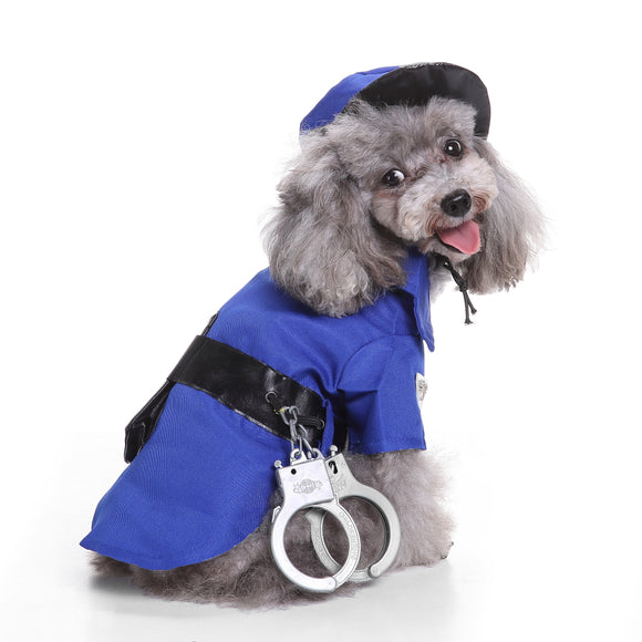 Dogs Halloween Police Set Costumes
