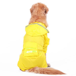 Yellow / Camouflage raincoat for big dog
