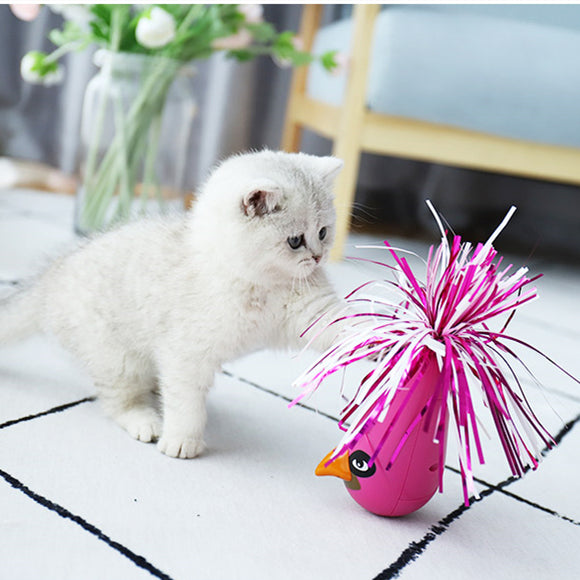 Automatic Feather Interactive Shake Tumbler Cat Toy for Kitten Kitty