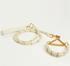 Pearl fashion jewelry leash