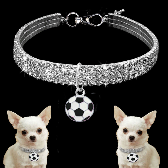 Luxury Dog Collar with Soccer pendant
