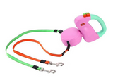 Ergonomically Shaped Dog Leash For Two
