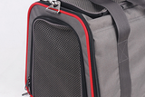 Foldable Pet Travel Carrier with Pocket and Removable Mat (Two-Side Expandable)
