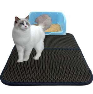 Double-Layer Cat Litter Mat With Waterproof Bottom Layer