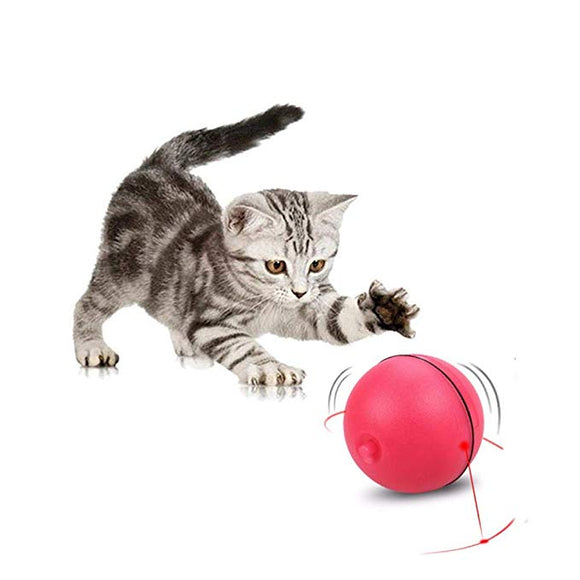 Interactive Cat Toy 360 Degree Rotating Ball Automatic Light Toy Pet
