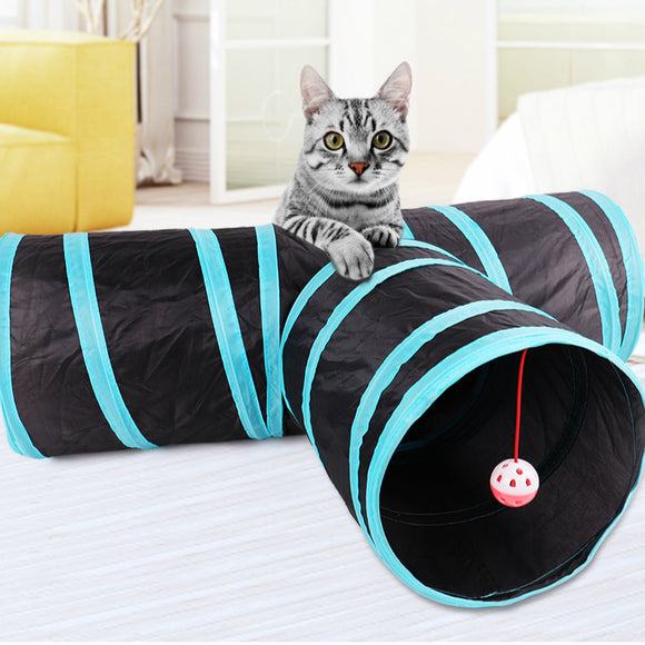 Foldable Y-Shape Cat Tunnel