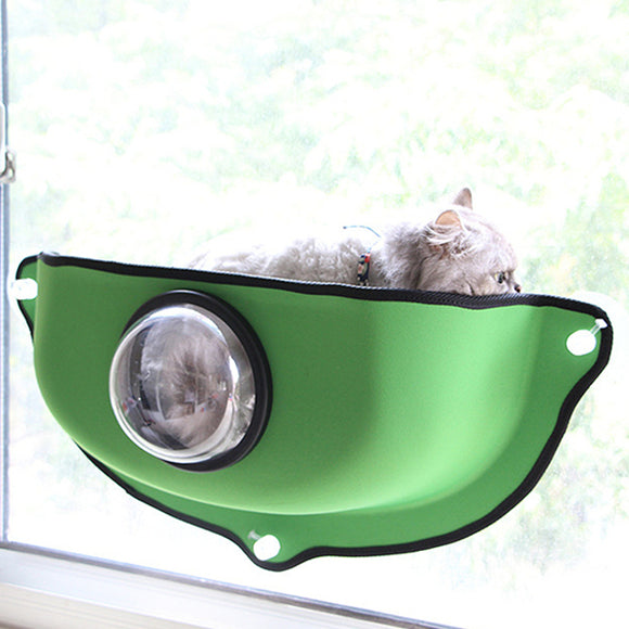 Sunbath Cat Bed Mount Window Kitty Hammock With Look Out Bubble Pod
