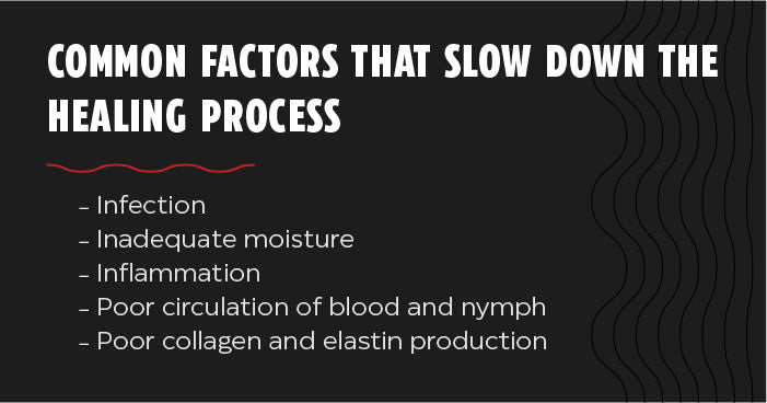 Factors that slow down the healing process