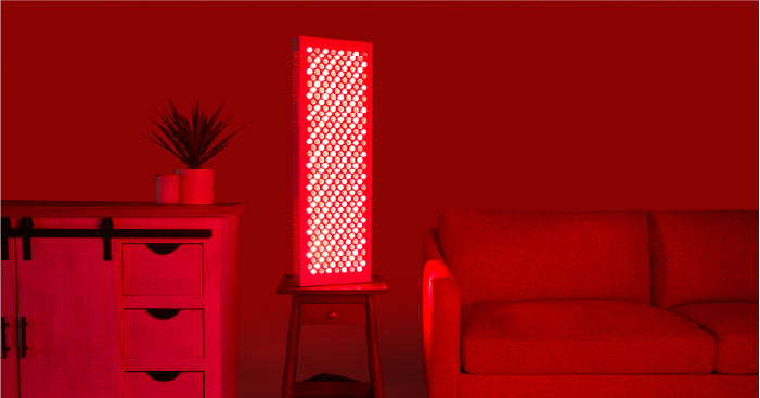 red light therapy device at home