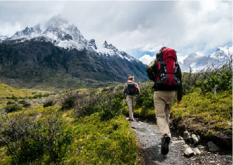 Couple hiking without pain