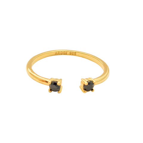 Image of gold-damenring-aroqi-jewelry-grazia