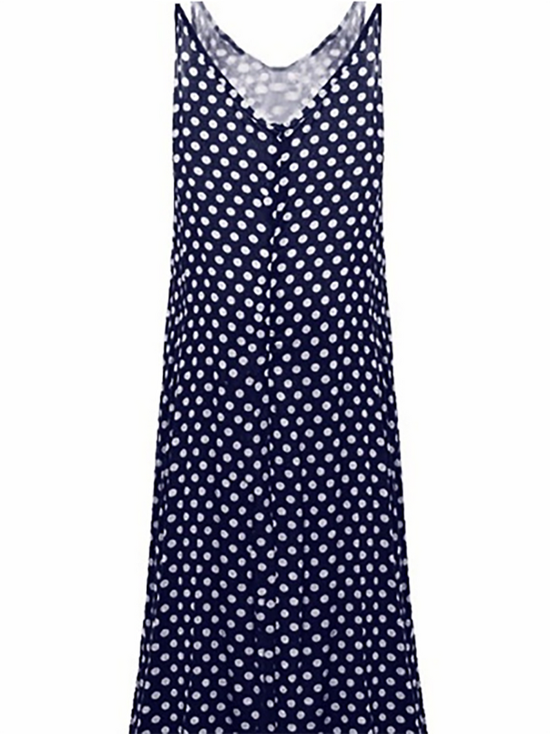 Black Polka Dots Casual Swing Casual Dress