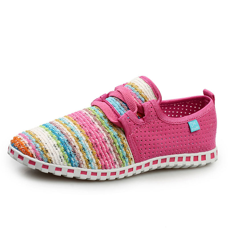 Women Fly Woven Fabric Loafers Casual Comfort Shoes