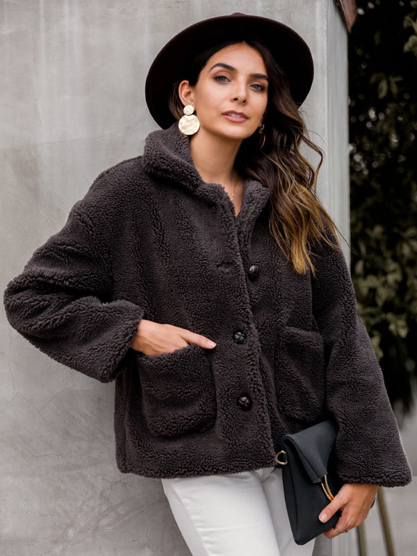 Shift Fluffy Long Sleeve Outerwear