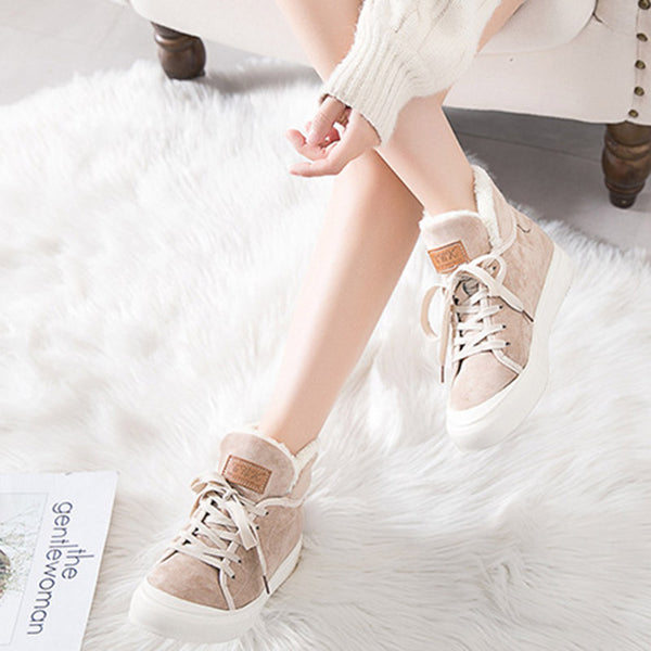 Women Casual Athletic Sneakers  Flocking Boots Shoes