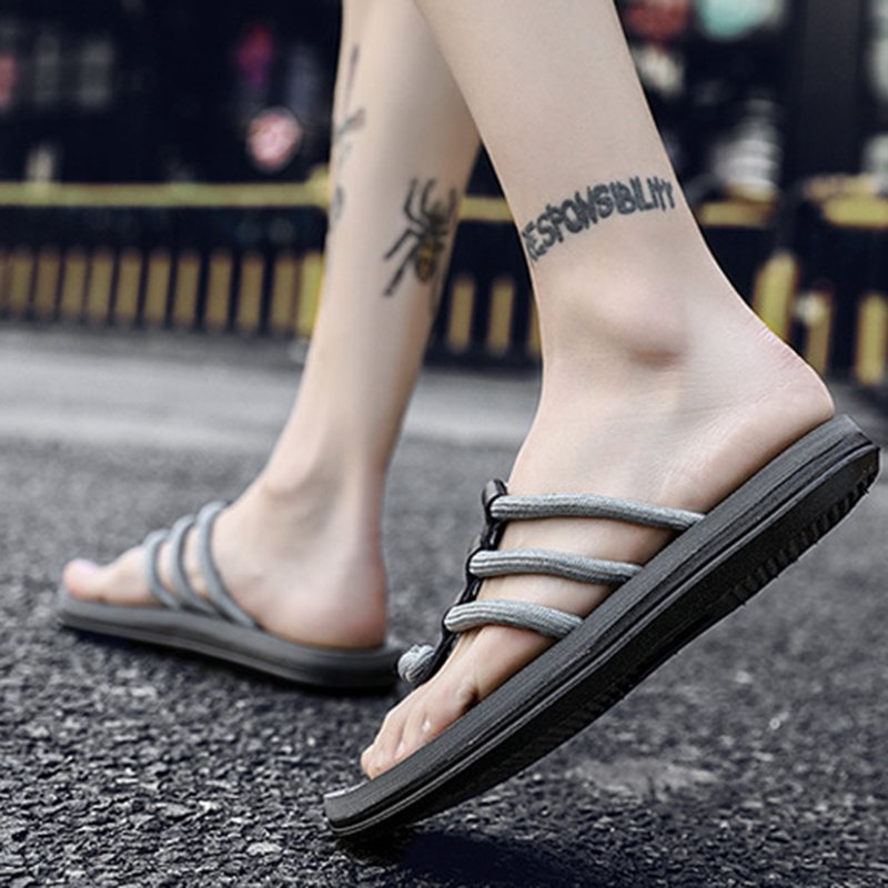 Women Round Toe Flat Summer Slippers