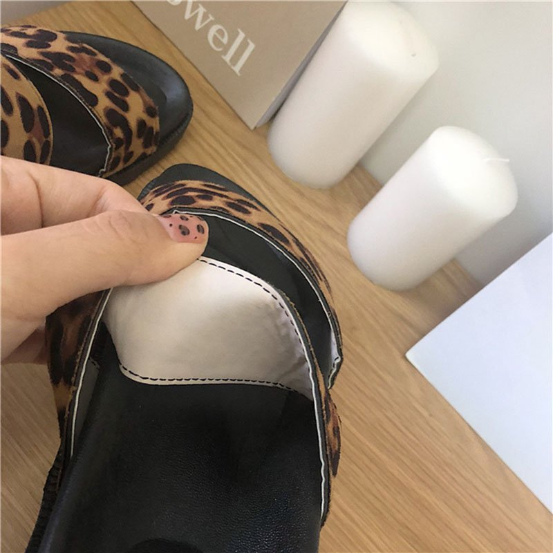 Double Strap Open Toe Flat Sandals Beach Slippers