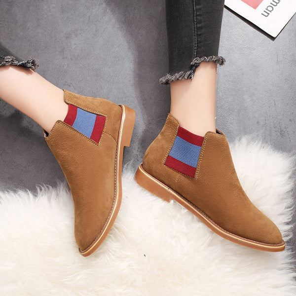 Women Booties Casual Comfort Slip On Shoes