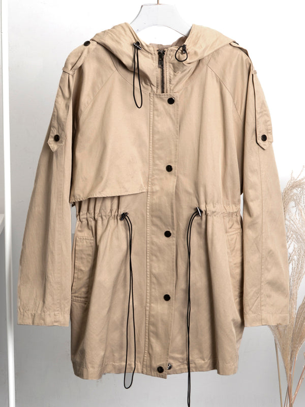 Loose short trench coat