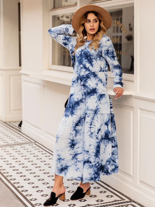 Abstract Printed Casual Shift Dresses