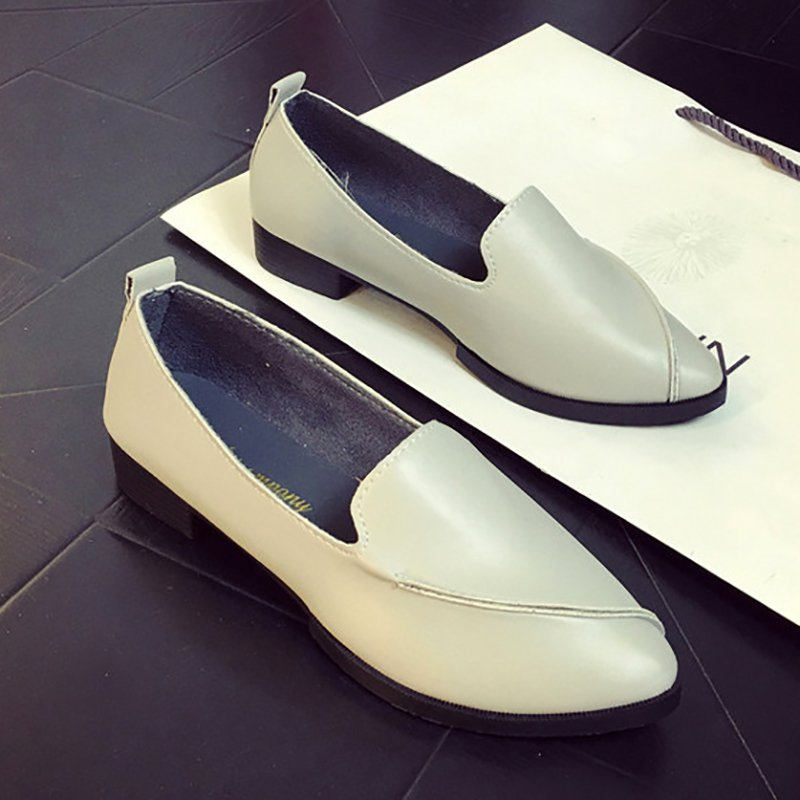 Black Pointed Toe Women's Slip-On Loafers