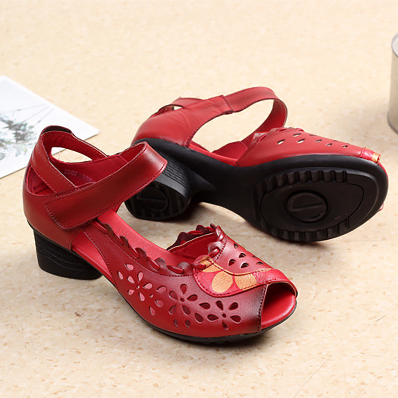 Women Flower Sandals Casual Magic Tape High Quality Shoes