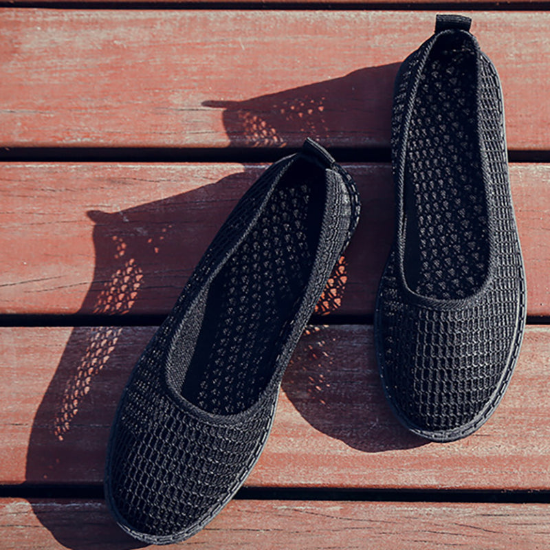 Women Mesh Fabric Flats Casual Breathable Shoes