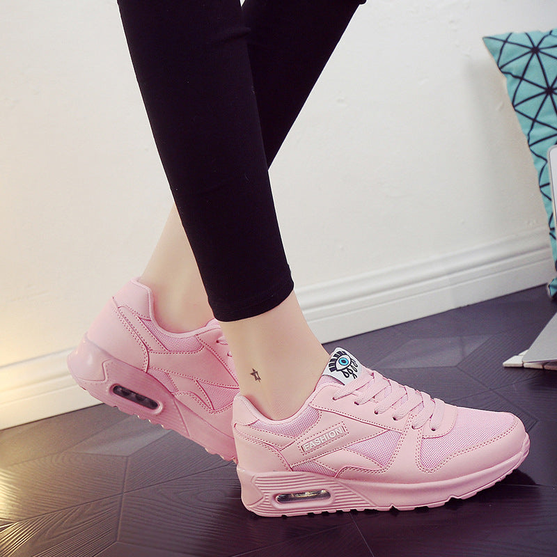 Mesh Flat Heel Athletic Lace-up Sneakers