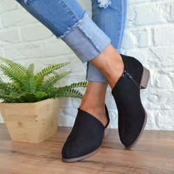 Low Heel PU Fall Shoes